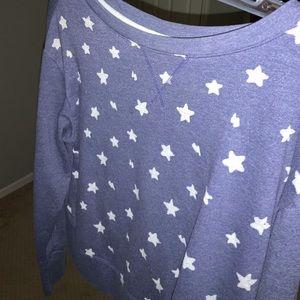 Reebok Tops - Reebok star print cropped hoodie